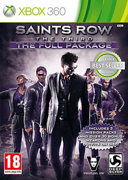Saints Row The Third: The Full Package Xbox 360 Cover Art