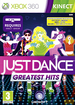 Just Dance Greatest Hits Xbox 360 Kinect Cover Art