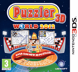 Puzzler World 2012 3D 3DS Cover Art