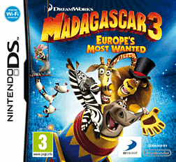 Madagascar 3: Europe's Most Wanted DSi and DS Lite Cover Art