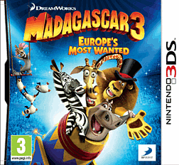 Madagascar 3: Europe's Most Wanted 3DS Cover Art