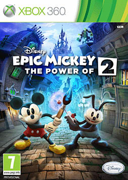 Disney Epic Mickey 2: The Power of Two Xbox 360 Cover Art