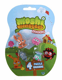 Moshi Monster Puzzle Erasers Accessories