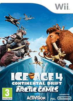 Ice Age 4: Continental Drift - Arctic Games Wii Cover Art