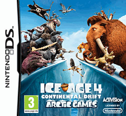 Ice Age 4: Continental Drift - Arctic Games DSi and DS Lite Cover Art