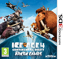 Ice Age 4: Continental Drift - Arctic Games 3DS Cover Art