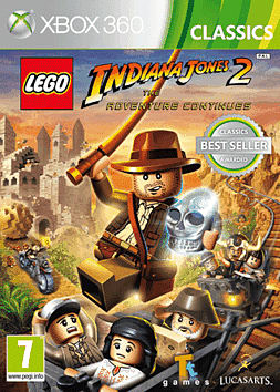 LEGO Indiana Jones 2: The Adventure Continues - Classics Xbox 360 Cover Art