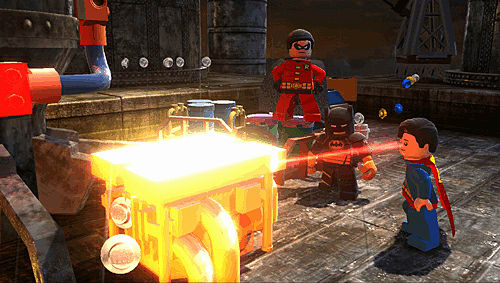 Superman joins Batman & robin in Lego Batman 2: DC Super Heroes on Xbox 360, PlayStation 3, Wii, PC, PS Vita, 3DS and DS