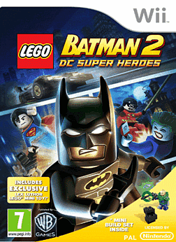 LEGO Batman 2 with Lex Luthor Mini-Toy Wii Cover Art