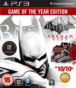 Batman: Arkham City Game of the Year Edition PlayStation 3 Cover Art