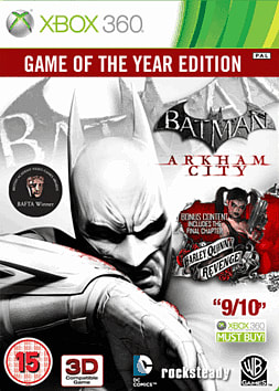 Batman: Arkham City Game of the Year Edition Xbox 360 Cover Art
