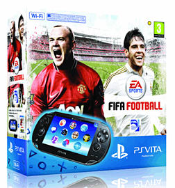 PlayStation Vita (WiFi Version) with FIFA Football and 4GB Memory Card PS Vita