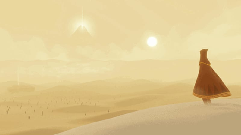 Unique gameplay and sparse landscapes in Journey for PlayStation 3 via PSN at GAME