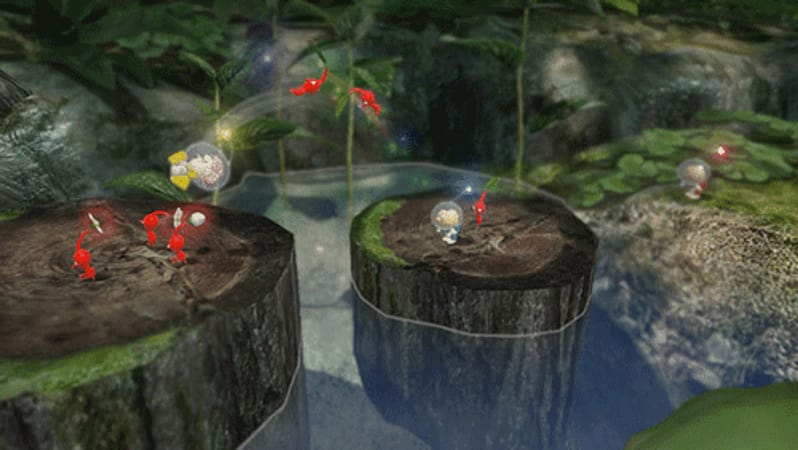 Colelcting fruit is fun in Pikmin 3 for the Wii U