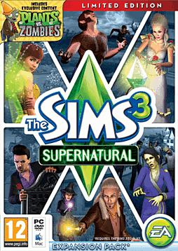 The Sims 3: Supernatural Limited Edition PC Games Cover Art