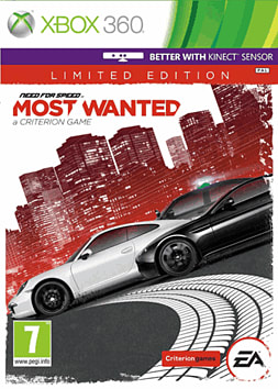 Need for Speed: Most Wanted - Limited Edition Xbox 360 Cover Art