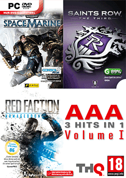 Saints Row the Third, Warhammer 40K Space Marine & Red Faction: Armageddon Triple Pack PC Games Cover Art