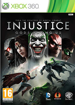 Injustice: Gods Among Us Xbox 360 Cover Art