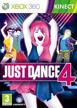 Just Dance 4 Xbox 360 Kinect Cover Art