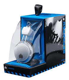 Ministry of Sound MOS004 Headphones - Silver/Black with Blue Cable Electronics