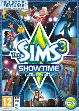 The Sims 3: Showtime PC Games Cover Art