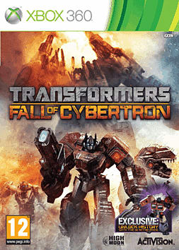 Transformers: Fall of Cybertron GAME Exclusive Generation 1 Retro Pack Xbox 360 Cover Art