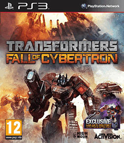 Transformers: Fall of Cybertron GAME Exclusive Generation 1 Retro Pack PlayStation 3 Cover Art
