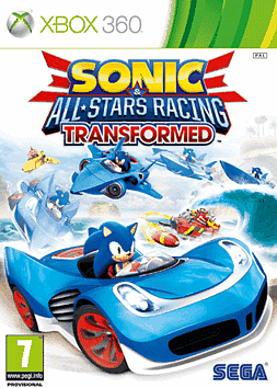 Sonic & All-Stars Racing Transformed Xbox 360 Cover Art