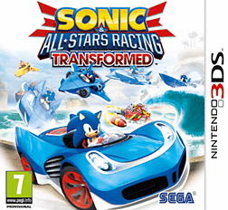 Sonic & All-Stars Racing Transformed 3DS Cover Art