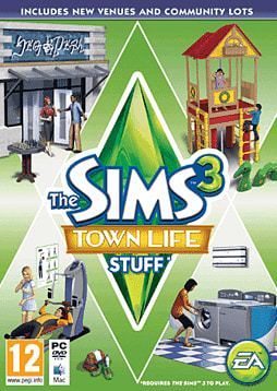 The Sims 3: Town Life Stuff PC Games Cover Art