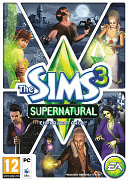 The Sims 3: Supernatural PC Games Cover Art