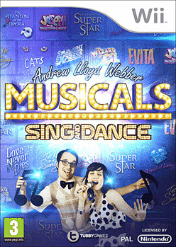 Sing and Dance: Andrew Lloyd Webber West End Musicals Wii Cover Art