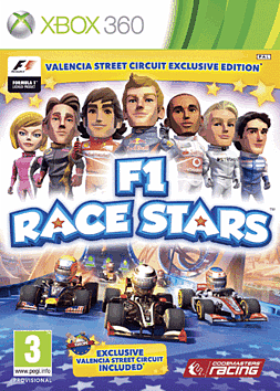 F1 Race Stars Exclusive Valencia Edition Xbox 360 Cover Art