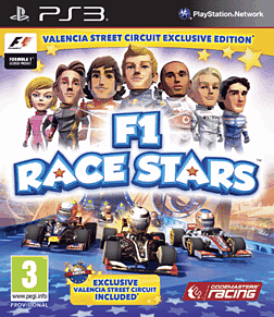 F1 Race Stars Valencia Edition - Only at GAME PlayStation 3 Cover Art