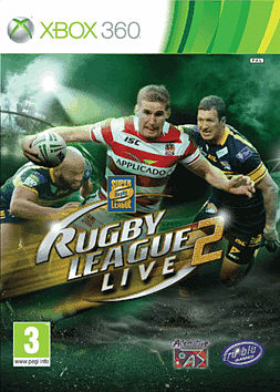 Rugby League Live 2 Xbox 360 Cover Art