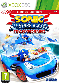 Sonic & All-Stars Racing Transformed - Limited Edition Xbox 360 Cover Art