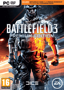 Battlefield 3 with Battlefield 3 Premium PC Games Cover Art