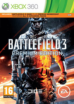 Battlefield 3 with Battlefield 3 Premium Xbox 360 Cover Art