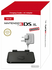 Official Nintendo 3DS XL Charging Cradle and AC Adaptor Accessories