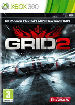 GRID 2 GAME Exclusive Brands Hatch Special Edition Xbox 360 Cover Art
