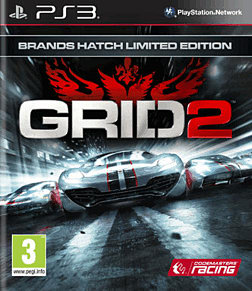 GRID 2 GAME Exclusive Brands Hatch Special Edition PlayStation 3 Cover Art
