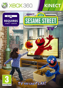 Kinect Sesame Street Xbox 360 Kinect Cover Art
