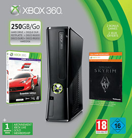 Xbox 360 250GB with Forza Essentials and The Elder Scrolls V: Skyrim Xbox-360