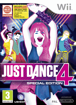 Just Dance 4 Special Edition Wii Cover Art