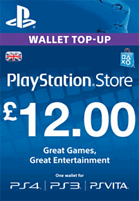 £12 PlayStation Network Wallet Top Up PlayStation Network Cover Art
