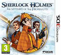 Sherlock Holmes: The Mystery of the Frozen City 3DS Cover Art