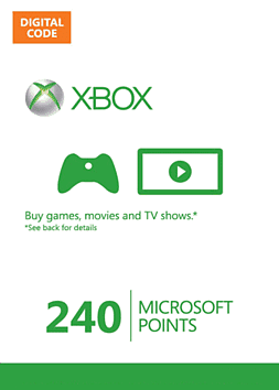 Xbox Live Marketplace 240 Points 240 Points Cover Art