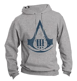 Assassin's Creed 3 Logo Hooded Sweatshirt - Medium Clothing and Merchandise