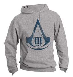 Assassin's Creed 3 Logo Hooded Sweatshirt - Large Clothing and Merchandise