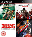 PlayStation 3 Charity Pack - Uncharted: Drake's Fortune, Assassin's Creed II and Need for Speed: Hot Pursuit PlayStation 3
